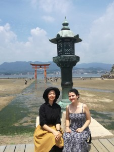Isabella Lau (left) and fellow SOAS student on their 'Year Abroad' in Nagoya, Japan