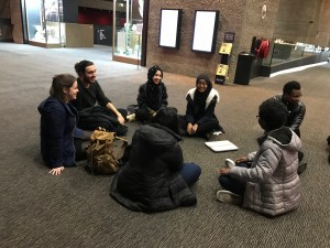 BA English students on a theatre visit