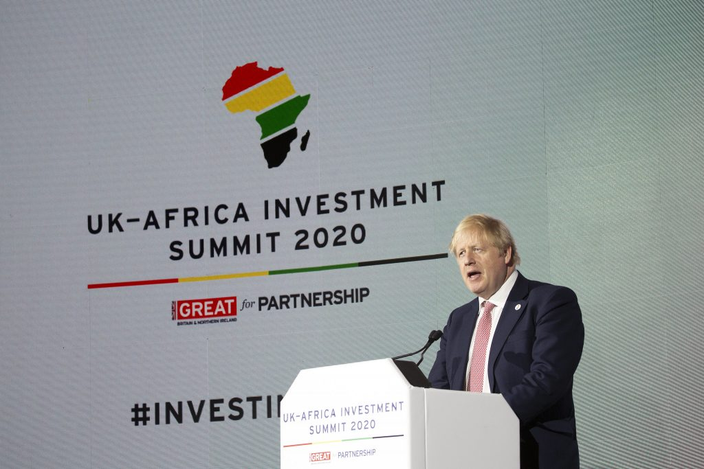 Boris Johnson UK-Africa Investment Summit 2020