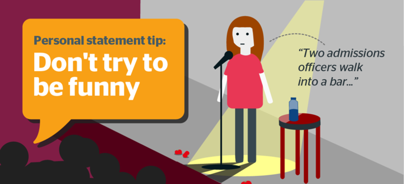 Personal statements - don't be funny!