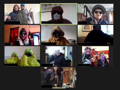 students on a zoom call