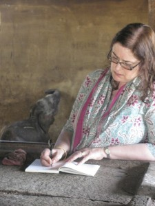 Professor Rachel Dwyer researching the Asian elephant in India