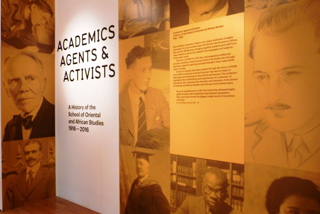 exhibition, curating 100 years of SOAS history, Academics, Agents and Activists: curating 100 years of SOAS history