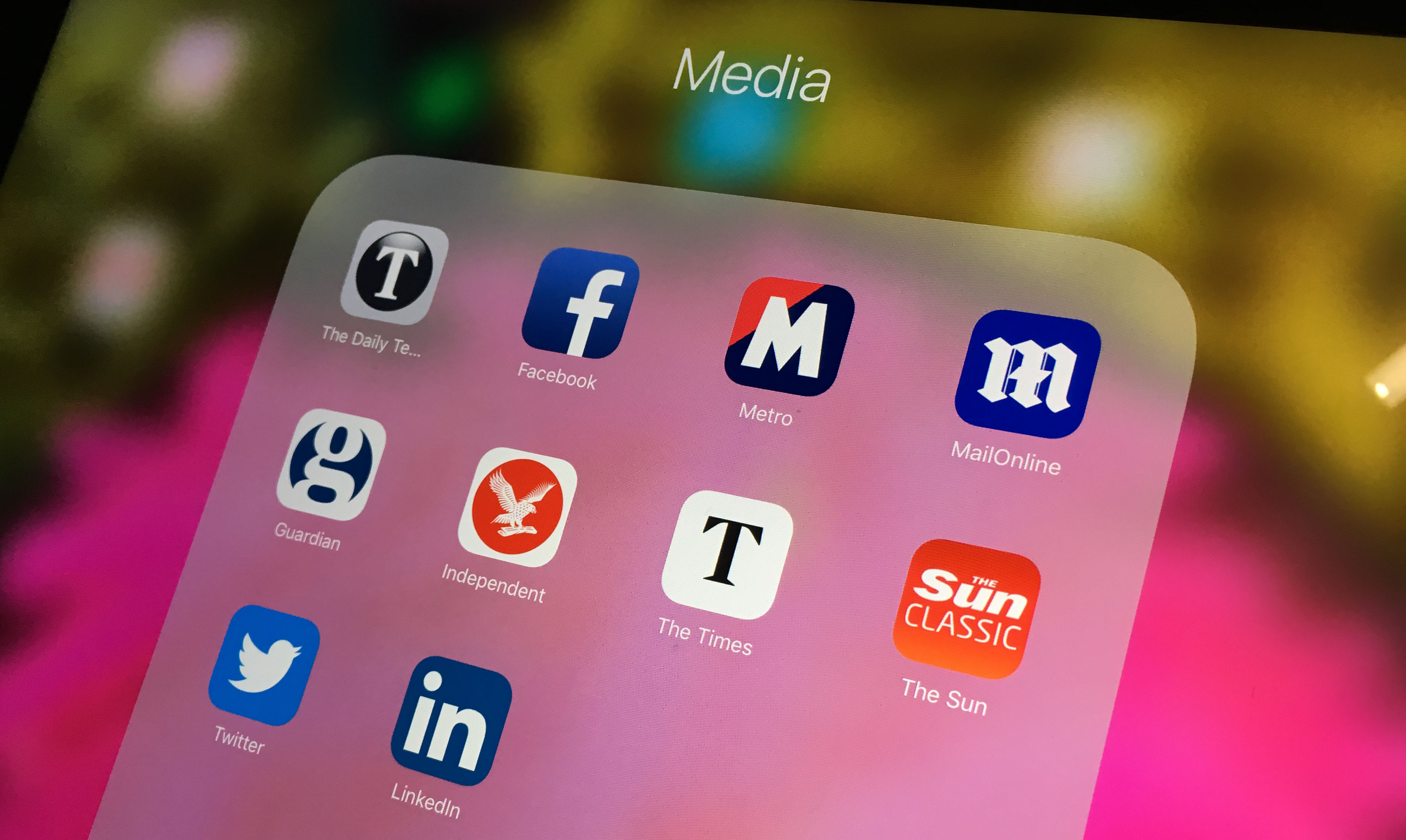 A selection of media apps on a smartphone
