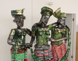 Sokari uses steel and colour in many of her works