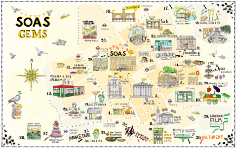 SOAS gems map