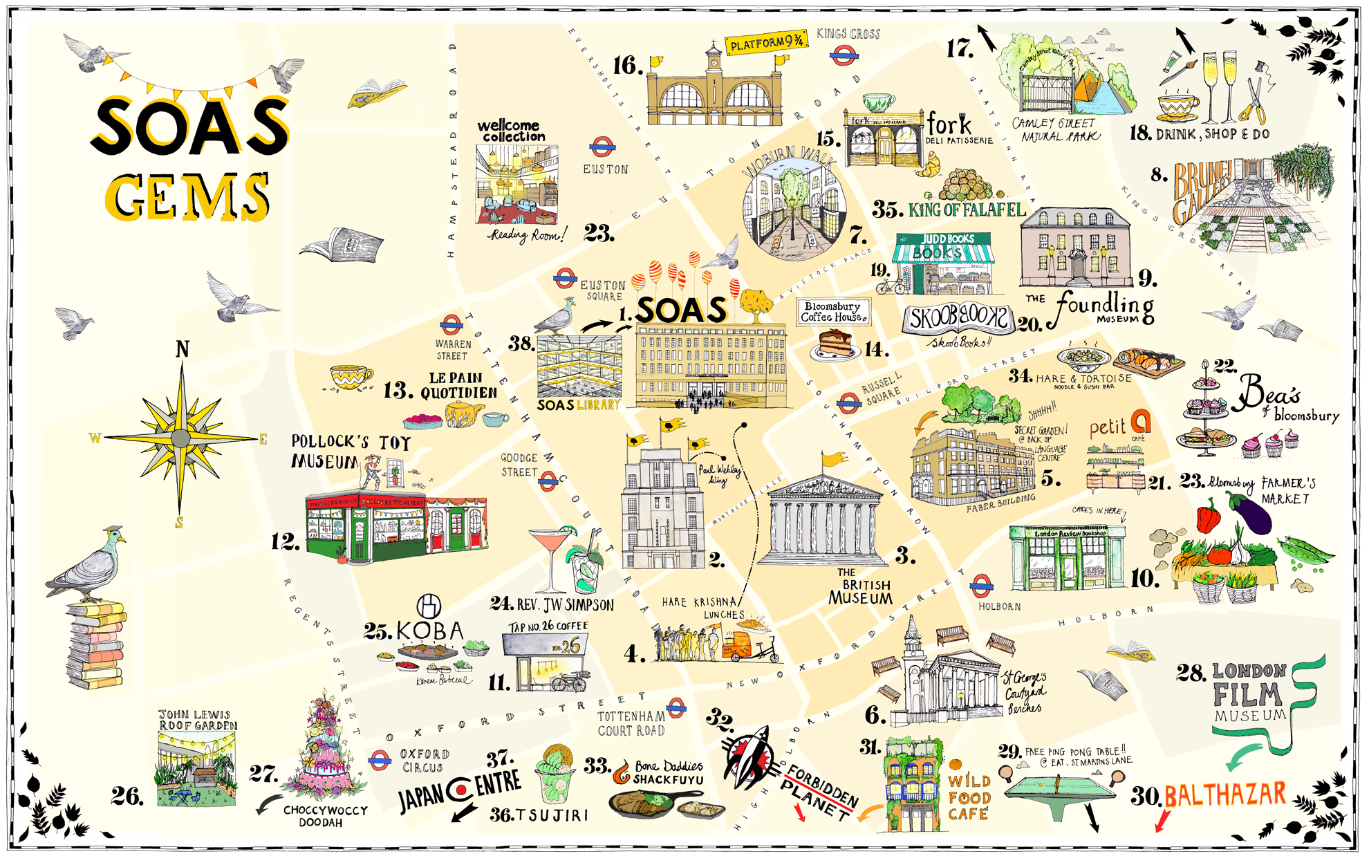 Map of SOAS Gems