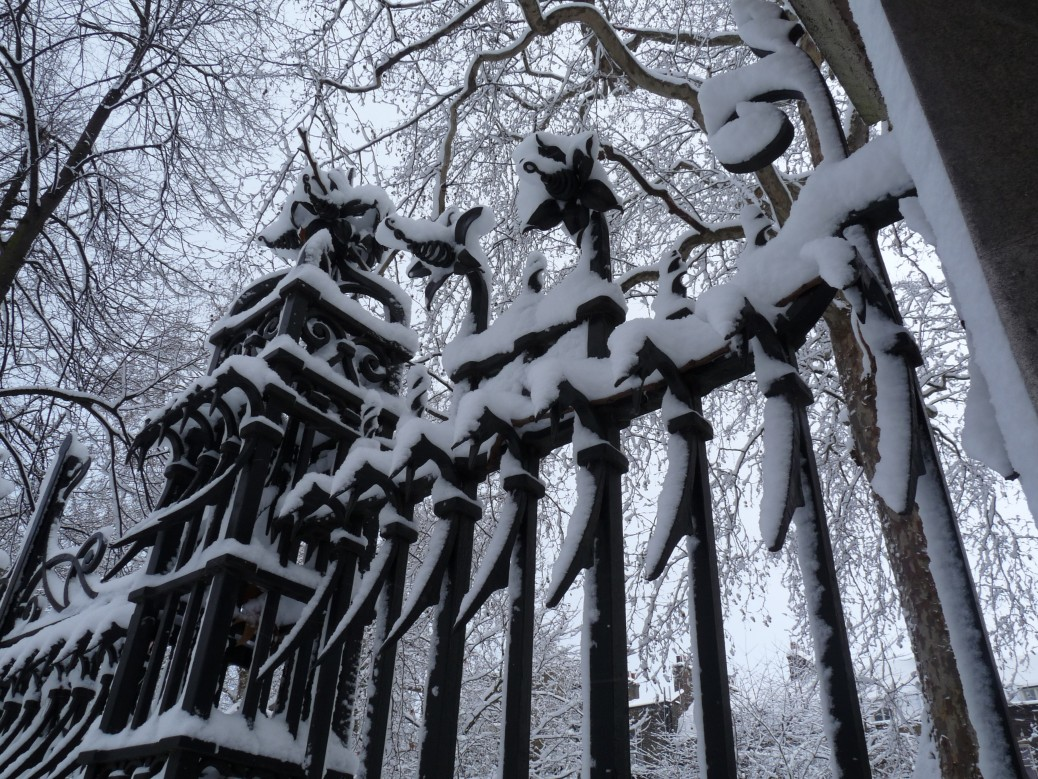 Phantom Railings, Malet Street Gardens, London
