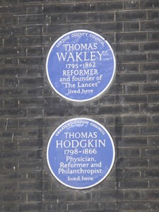 Blue plaques in Bedford Square