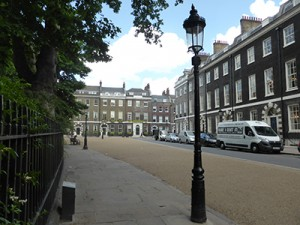 Georgian terraces in Bedford Square