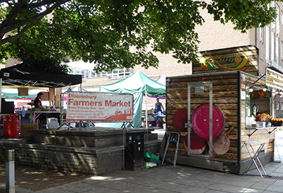 Farmer's market in Torrington Square