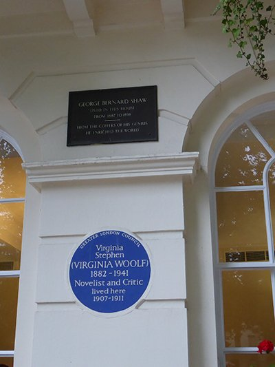 Plaque in Fitzroy Square
