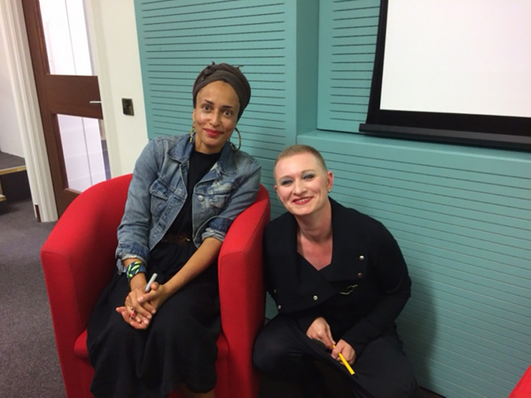 Zadie Smith with Marloes Janson