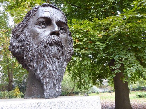 Rabindranath Tagore in Gordon Square