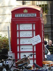 Phone box in Bloomsbury Square