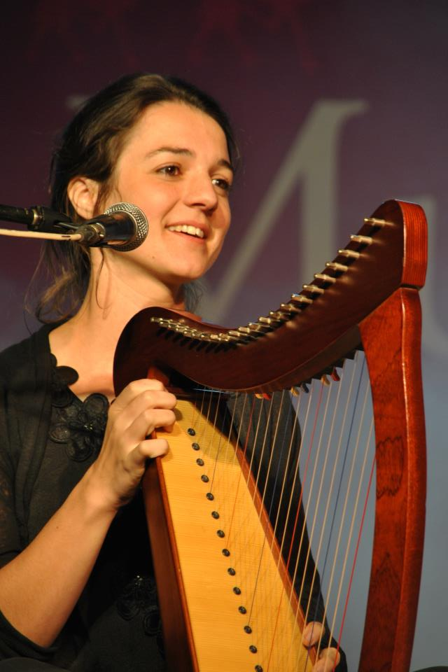 Georgie Pope on harp