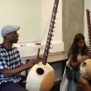 Kadialy Kouyate (L) on Kora