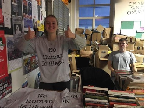 No Human is Illegal. Tee-shirts produced by the SOAS Solidarity with Refugees and Displaced People Society
