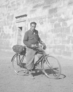 Witold Rajkowski on a bicycle