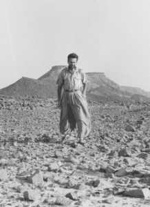Witold Rajkowski in the desert