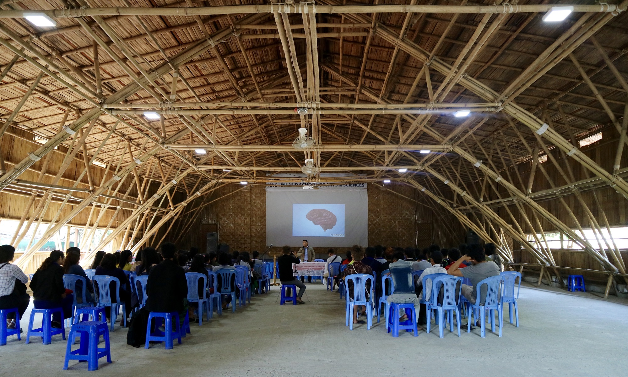 KSAS's beautiful bamboo-built main hall