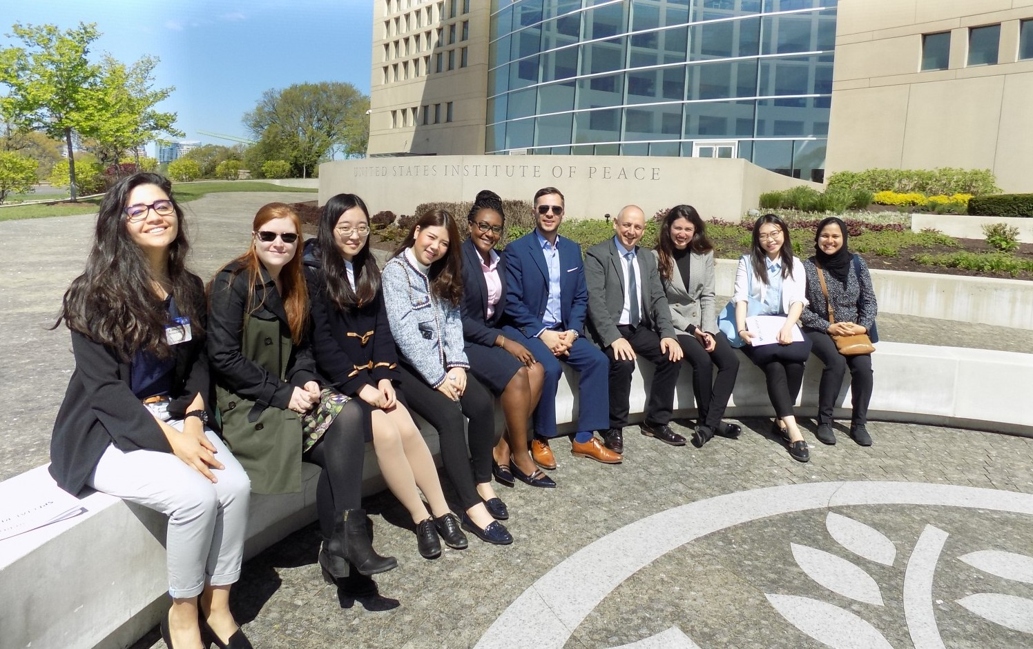 CISD students at the United States Institute of Peace think tank. Washington DC, April 2018