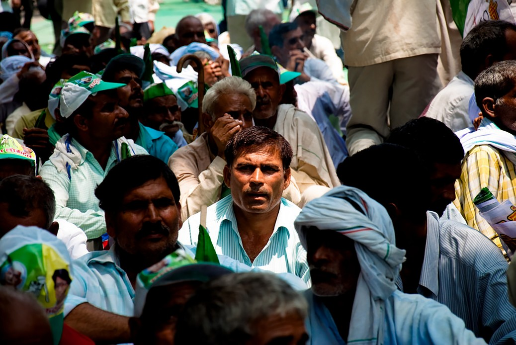 © Jaskirat Singh Bawa (Flickr) Farmers at an Rashtriya Lok Dal protest rally at Jantar Mantar, New Delhi, India