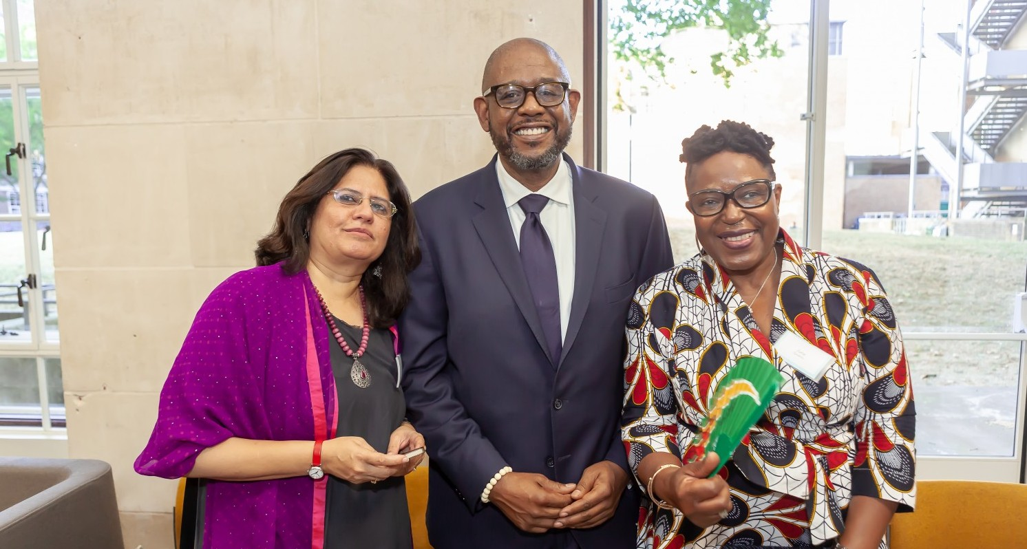 L-R: Vrinda Grover, Forest Whitaker and June Givanni