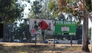 Riots take place across the country after a two-thirds majority for the ZANU-PF government is announced.