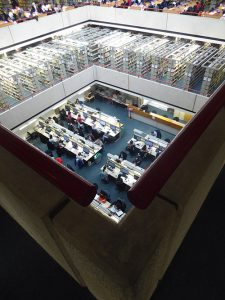 SOAS Library Brutalism stacks