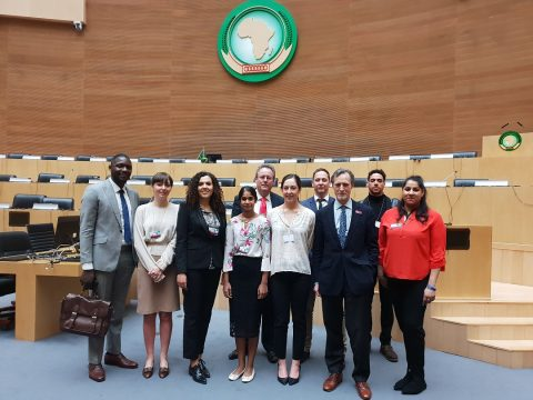 Diplomacy students on SOAS's first ever study tour to Addis Ababa