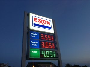 Exxon gas petrol station
