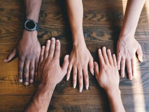 hands. diversity, integration