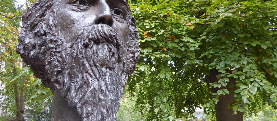 Bust of Tagore in Gordon Square