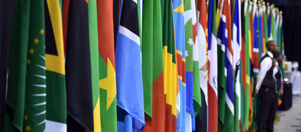 African flags presidential