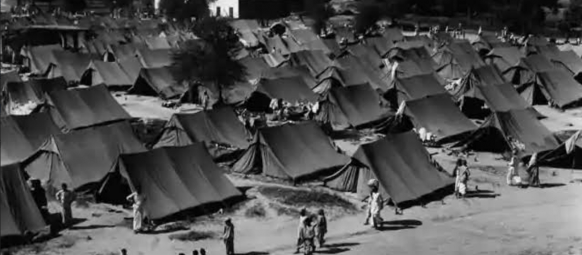 Refugee camp during partition