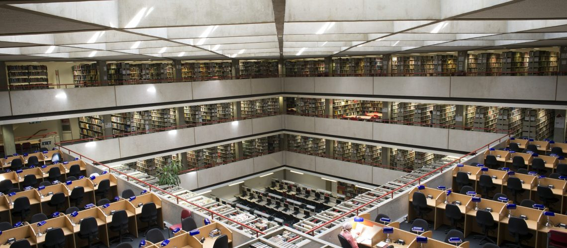 SOAS Library Images,View from levels A and D