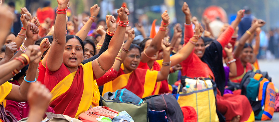 Indian women protesting - International Women's Day 2020