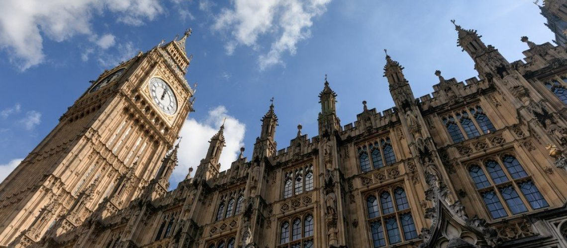 ig Ben (Elizabeth Tower) stands at the north end of the Palace of Westminster the meeting place of House of Commons and House of Lords, two houses of the Parliament of UK